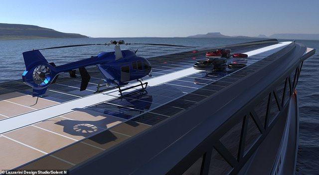 'Pistë helikopteri dhe pishina', brenda jahtit peshkaqen që