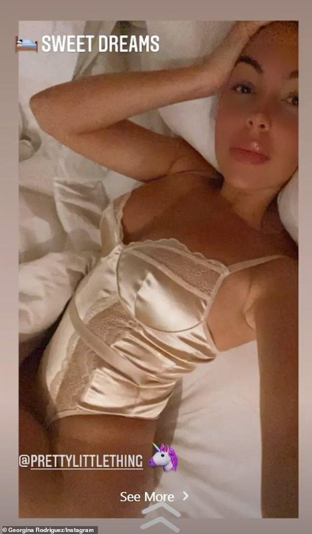 Në shtrat me të brendshme, Georgina Rodriguez zbulon më