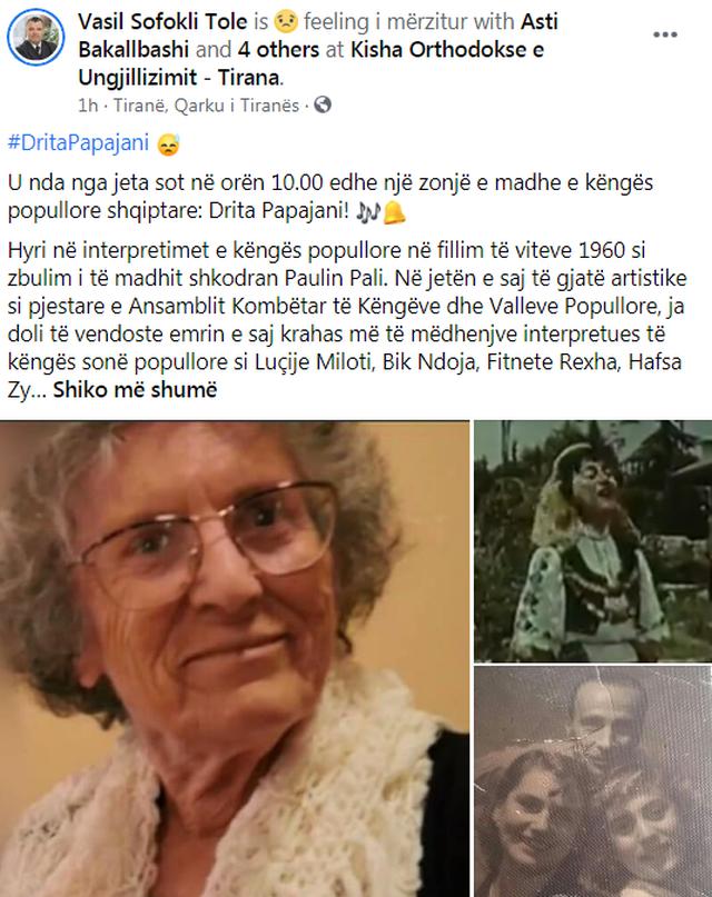 Lajm i trishtë për artin shqiptar, ndahet nga jeta