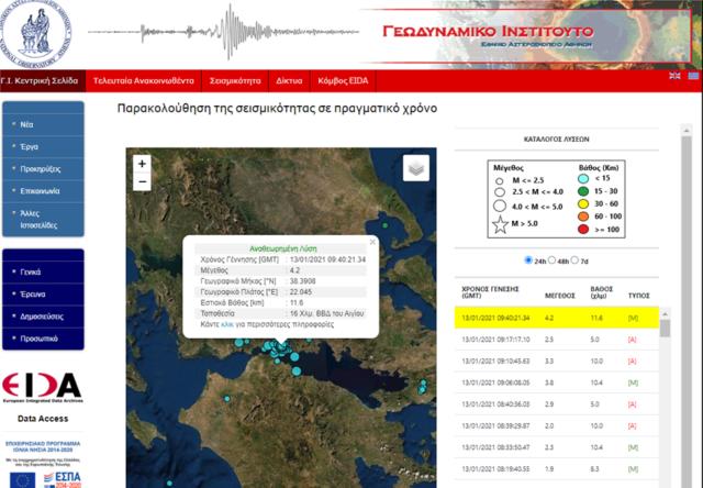 Tre tërmete brenda disa orëve në Greqi