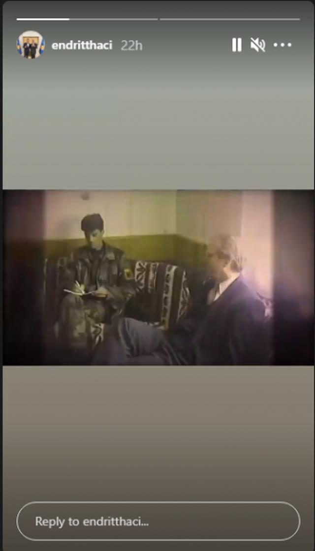 Hashim Thaçi me Joe Biden/ Djali i ish-presidentit nxjerr pamjet e rralla