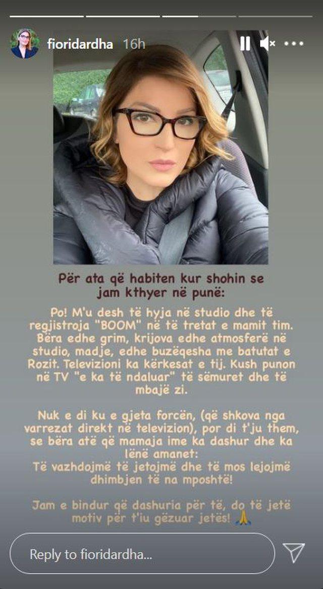 """""""Nga varrezat direkt në televizion""""/ Fiori Dardha u"""