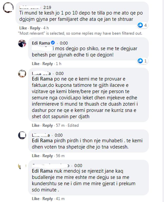 Skandali i sanitares në COVID2/ Rama sherr me komentuesit: Duro të