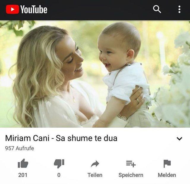 Duam feston 1-vjetorin e lindjes, Miriam Cani i bën dhuratën më
