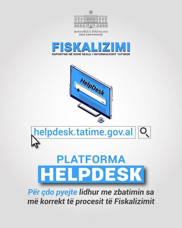 Platforma HelpDesk në shërbim të tatimpaguesve për