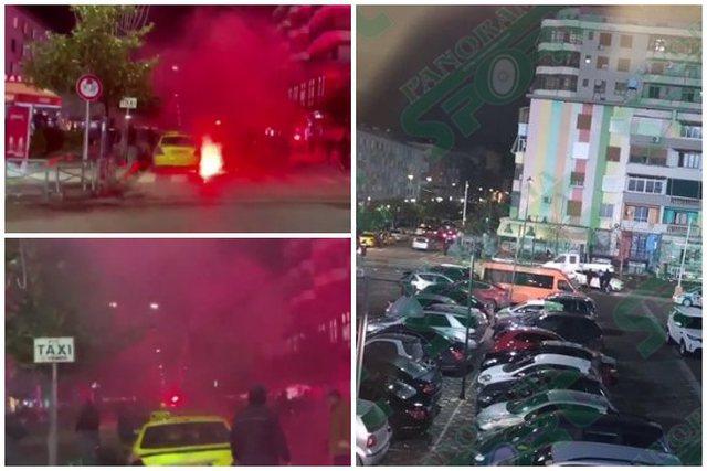 Incidente para derbit Partizani – Tirana, përplasen tifozeritë
