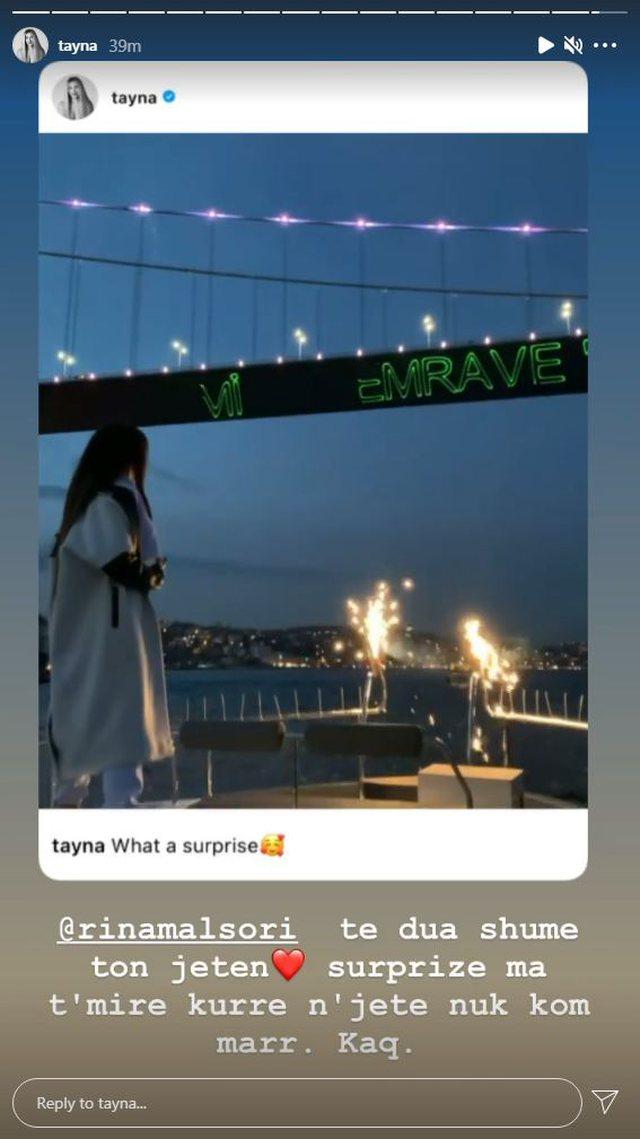 """""""Të dua shumë gjithë jetën""""/ Tayna merr"""
