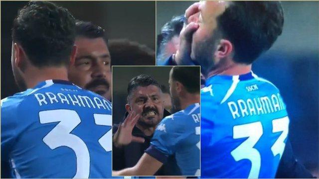 Napoli humbi/ Çfarë ndodhi gjatë ndeshjes mes trajnerit Gattuso