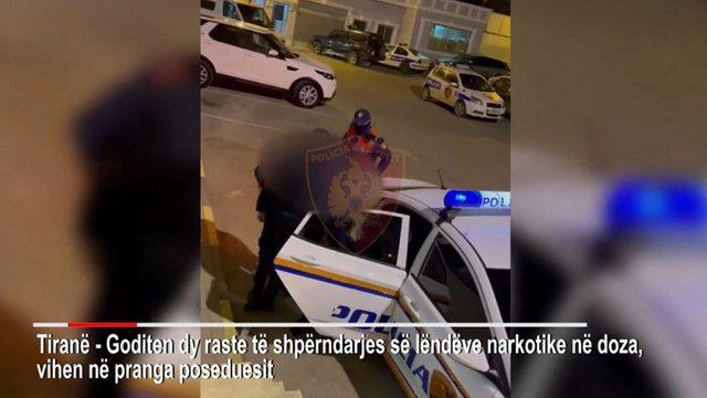 VIDEO/ Arrestohen shpërndarësit e kokainës dhe kanabisit