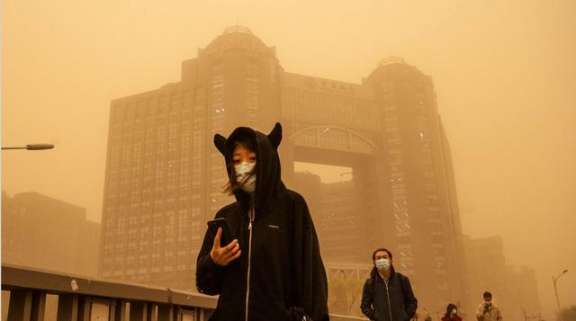 Një stuhi rëre kaploi Pekinin, shqiptarja që jeton në