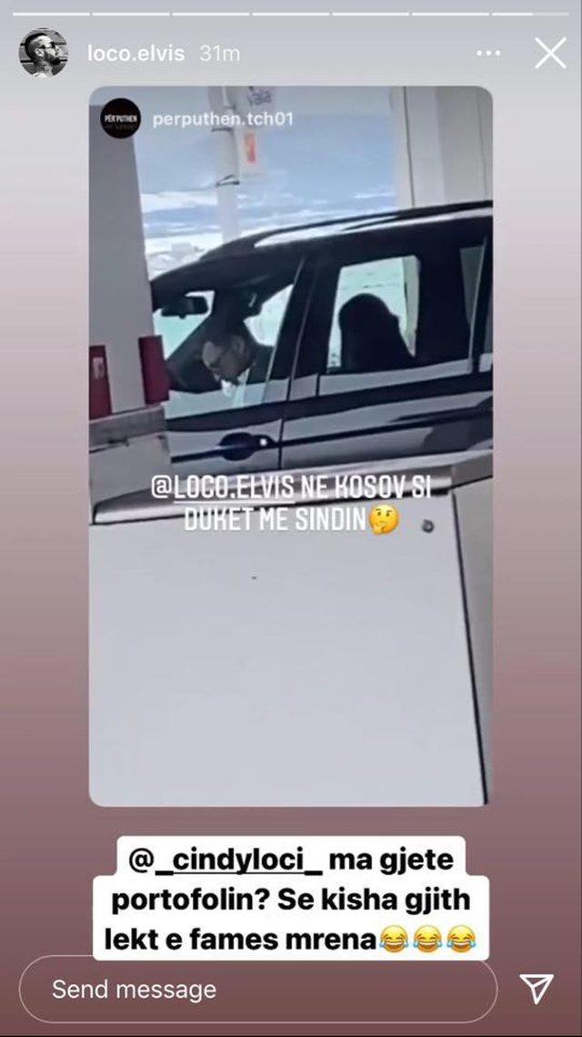 Sindi dhe Loco kapen mat bashkë, publikohen FOTO brenda një makine