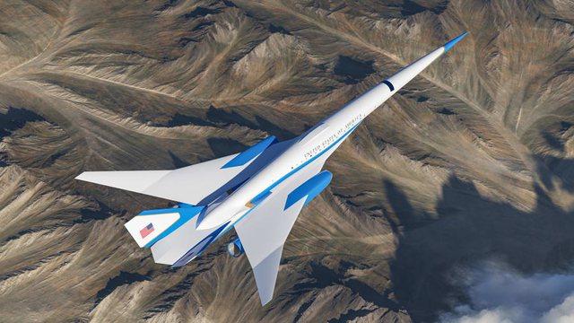 FOTO/ Brenda avionit presidencial supersonik të SHBA, do fluturojë me