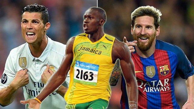 Usain Bolt zgjedh mes Messit dhe Ronaldos, ka edhe disa fjalë për
