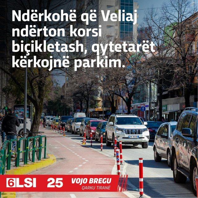 Kandidati i LSI, Bregu: Qytetarët e Tiranës duan parkim, Veliaj