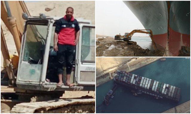 Heroi që me eskavatorin e vogël zhbllokoi anijen gjigande: Ende nuk