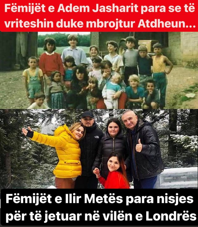 Foto krahasuese/ Kreshnik Spahiu tregon fëmijët e Adem Jasharit dhe