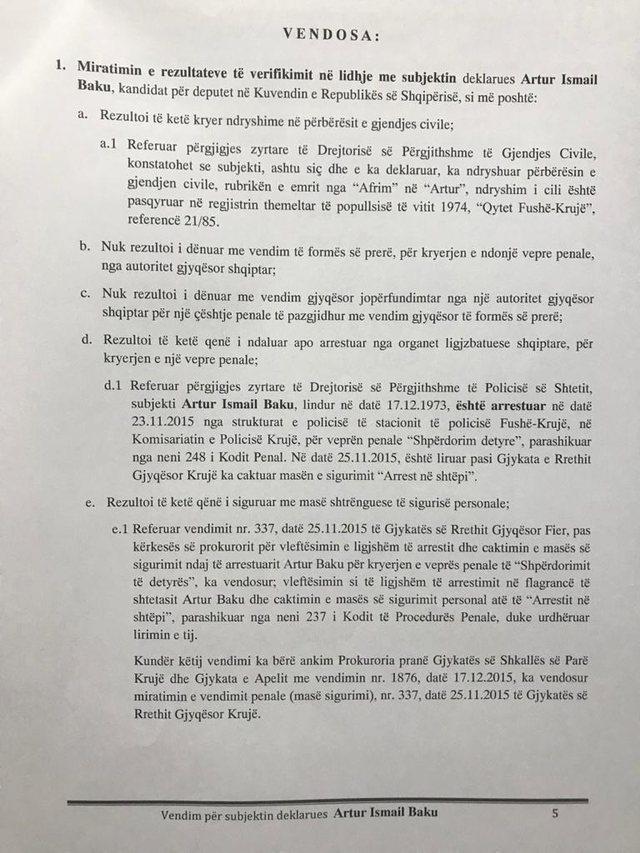 I arrestuar dhe ndryshime në gjendjen civile/ KQZ nxjerr zbuluar kandidatin