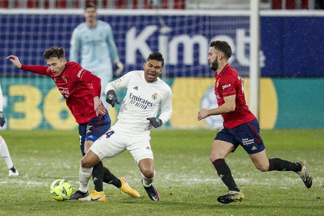 Real Madrid nuk gabon, mposht Osasunën dhe mban hapin e Atletikos