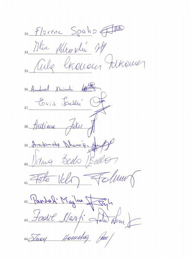 Kush janë 50 deputetët që firmosën për shkarkimin e