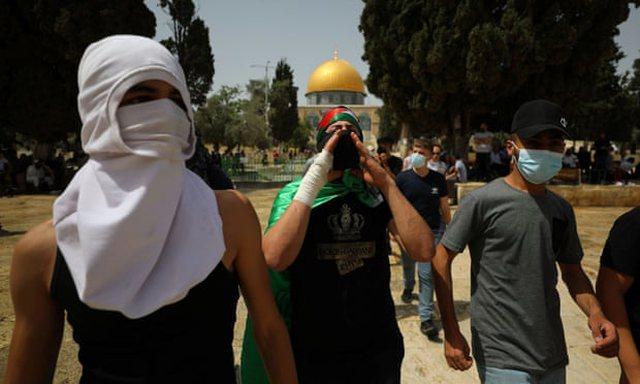 Dhuna në xhaminë al-Aqsa të Jeruzalemit, Hamasi sulmon me raketa