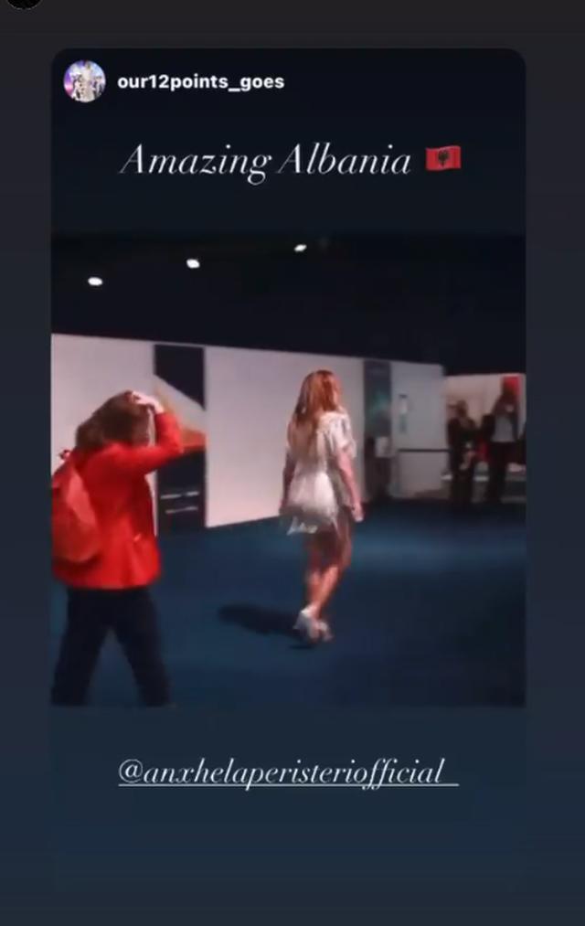 """Anxhela """"ndez"""" Eurovision-in me performancën e saj të"""