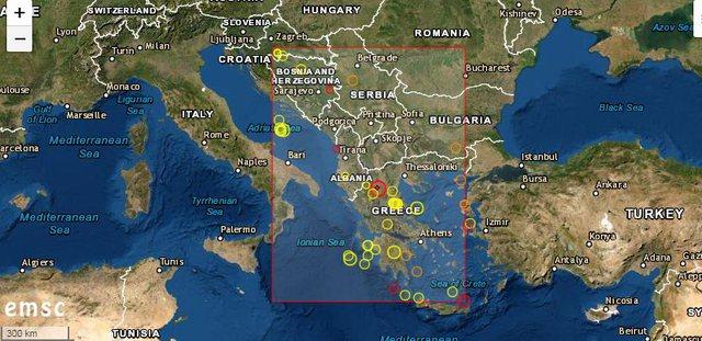 Greqia goditet nga një tërmet me magnitudë 5.2. lëkundjet