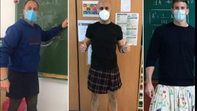 Heqin pantallonat dhe veshin fundet, mësuesit në Spanjë