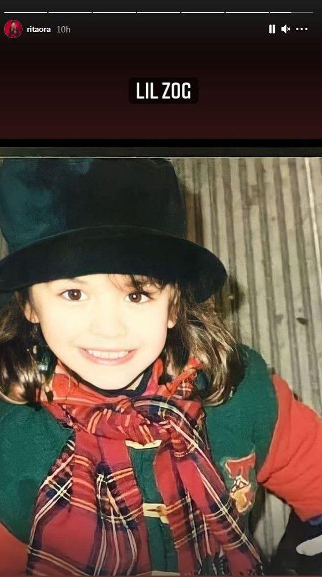 Poston foton kur ka qenë e vogël, Rita Ora shkruan shqip (FOTO)