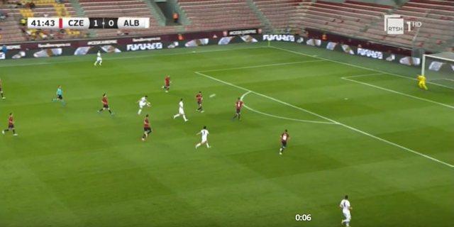 VIDEO/ Shqipëri-Çeki, Cikalleshi realizon gol të çmendur
