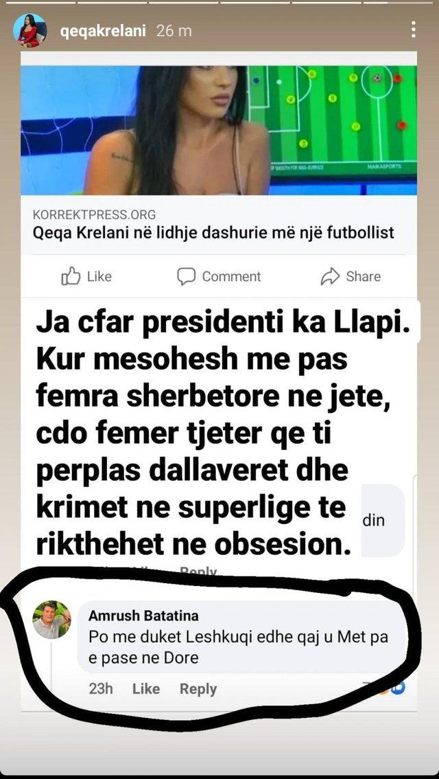 """""""Nuk ka ngel futbollist pa të kap"""", gazetarja e njohur reagon"""