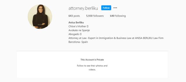 Nënë e një vajze dhe avokate në Spanjë, ish-konkurrenti