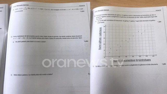 Matura 2021/ 1 orë pas nisjes së provimit, del teza e matematikës