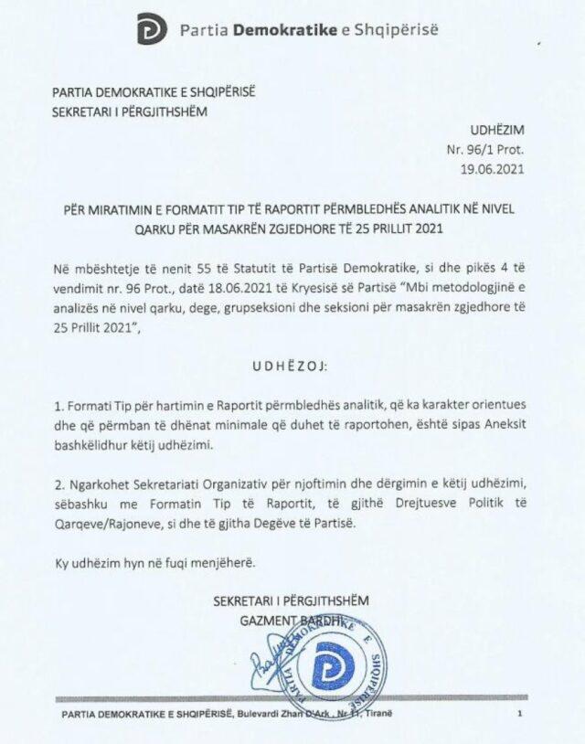 Dokumenti/ PD shpërndan udhëzimin: Faktoni masakrën e 25 prillit,