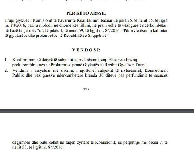Kryeprokurorja e Tiranës, Elisabeta Imeraj kalon Vettingun, bien akuzat