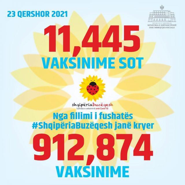 Shqipëria drejt 1 milion vaksinime, sa doza u injektuan 24 orët e