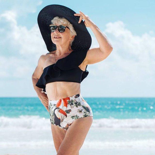 Foto me bikini dhe nga palestra, 74-vjeçarja që po