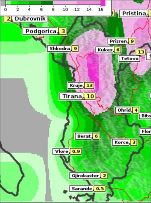 """Stuhia """"Frederik"""" mbërrin në Shqipëri, zonat ku"""