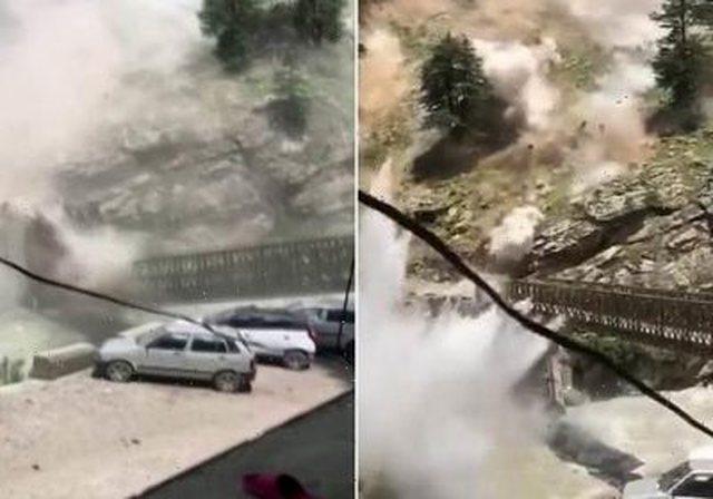 Gurët gjigandë rrëshqasin papritur nga mali/ 9 turistë