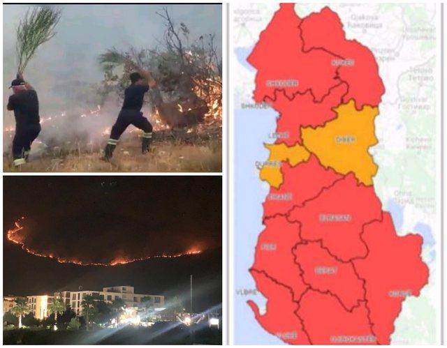 Skuqet Shqipëria/ IGJEUM jep paralajmërimin për zjarret: Do kemi