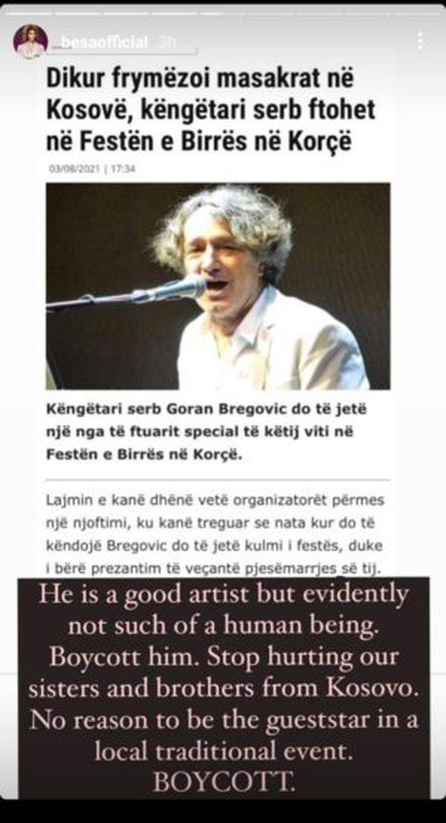 Këngëtari serb i ftuar special në Korçë, personazhet