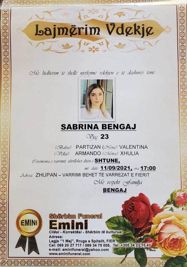 Sabrina, viktimë e ish-burrit por edhe e shtetit! Vrasja e 23