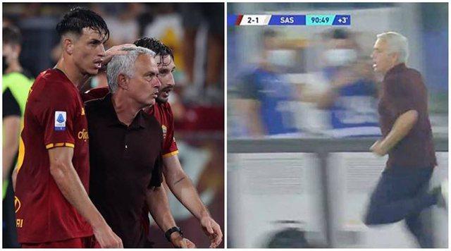 Mourinho feston si i çmendur me lojtarët golin në minutën