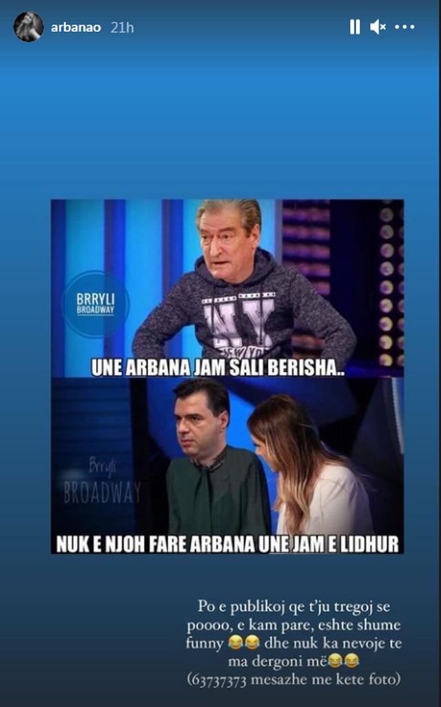 Berisha dhe Basha u bënë meme në rrjet, Arbana Osmani: E kam