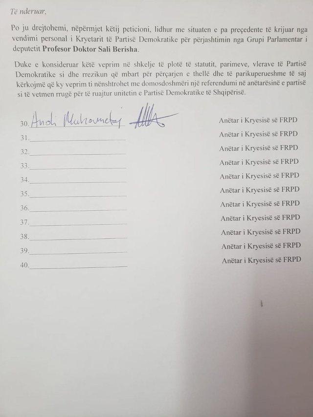 Firmëtarë djali i Olldashit/ Berisha vë në lëvizje