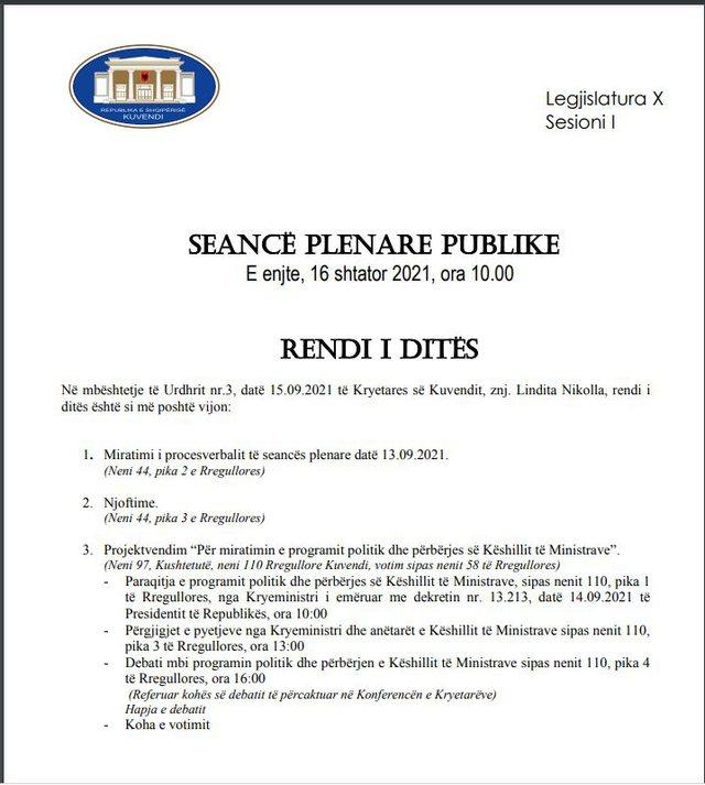 Votimi i qeverisë/ Seanca maratonë e Parlamentit, orë pas ore: