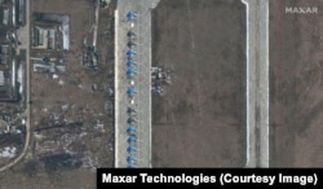 Imazhe satelitore të grumbullimit të ushtrisë në Rusi dhe