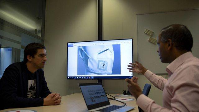 Shpiket maska inteligjente: Mat temperaturën dhe frymëmarrjen dhe