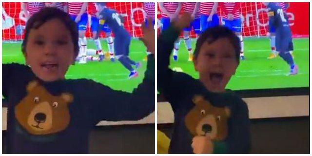 VIDEO/ Tifozë më specialë të Mesit, djemtë e tij