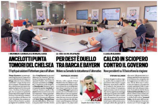 Futbolli në grevë kundër qeverisë, mediat italiane