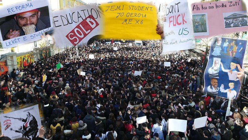 """""""Pranvera e Studentëve"""" - Protesta, korrupsioni në"""